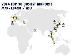 Cdg Airport Map 2014 Top 30 Busiest Airports In The World By Passengers