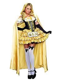 Black Gold Halloween Costumes Amazon Dreamgirl Women U0027s Goldilocks Fairytale Costume Clothing