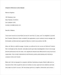 personal reference letter example character reference letter for