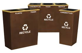 commercial recycling bins metal trash cans recycle containers