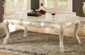 acme dresden coffee table antique white finish u2022 usa furniture online