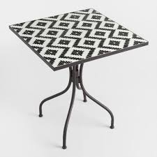 Black Metal Bistro Table Black And White Cadiz Outdoor Bistro Table World Market