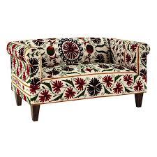 canapé maison du monde avis canapé 2 3 places hibiscus en coton brodé motifs floraux canapé