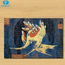 2016 oil painting handprint 4 for tibetan auspicious works of art