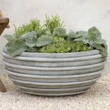 large planter pots poly giant plate planter the pot company