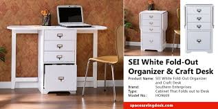 craft cabinet with fold out table sei white fold out organizer and craft desk review space saving desk