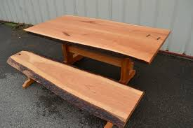 Cherry Dining Table Live Edge Cherry Dining Table And Bench Corey