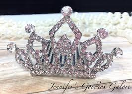 rhinestone hair rhinestone tiara rhinestone hair comb princess small