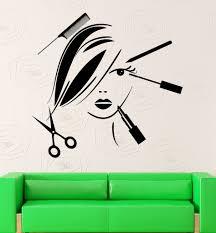 vinyl decal beauty salon decor hair stylist tools spa barber style vinyl decal beauty salon decor hair stylist tools spa barber style wall sticker mural ig2529