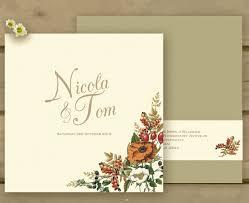 autumn wedding invitations knots and kisses wedding stationery autumn orange gold