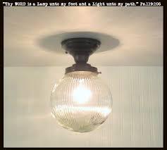 Globe Ceiling Light Fixtures by Large Globe Ceiling Light Semi Flush Mount Holophane U2013 The Lamp Goods