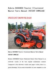 kubota b3030 hsd tractor illustrated master parts manual instant down u2026