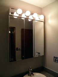 Bathroom Medicine Cabinet With Light Bathroom Medicine Cabinet Lights Lighting Non Recessed