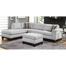 Blue Velvet Sectional Sofa by Coaster Mason Contemporary Track Arm Blue Grey Velvet Fabric