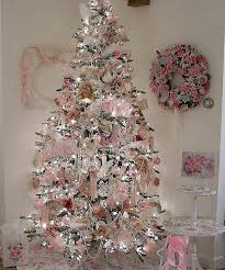 pink christmas tree shabby chic pink christmas trees