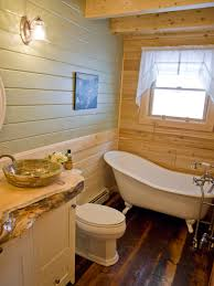 Clawfoot Tub Bathroom Design by Rustic Log Home Bathroom With Clawfoot Tub Katahdin Log Home