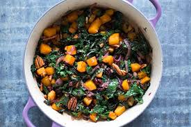 roasted butternut squash kale sauté recipe simplyrecipes