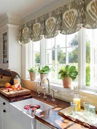 Window Valance Patterns by Stylish Kitchen Window Treatment Ideas Ikat Pattern Curtain