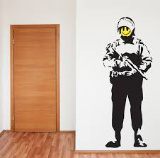 wall art decals banksy color the walls of your house wall art decals banksy banksy style acid soldier wall art sticker decal ebay