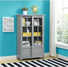Small Bookcases With Glass Doors Bookcase Custom Shaker Bookcase Full Glass Doors Antique Wood