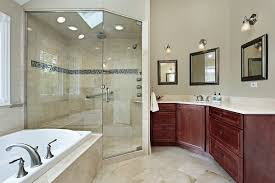 elegant white bathroom ideas with amazing walk in shower design