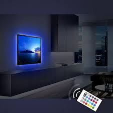 ambient light behind tv amazon com bias lighting for tv derlson usb powered led strip light
