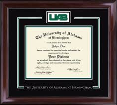 of alabama diploma frame the of alabama at birmingham spirit medallion diploma
