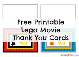 free thank you cards free printable lego thank you cards birthday buzzin