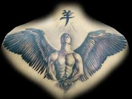 10 angel tattoos designs for back
