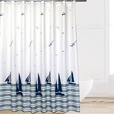 Curtain With Hooks Eforcurtain Pattern Waterproof And Mildew Free