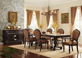 Living Room Table Sets Cheap Aco Furniture Russian Hill Warm Cherry Dining Room Table W 2 Arm