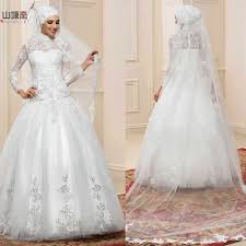wedding dress muslimah white arab sleeve muslim wedding dress white arab