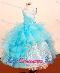 light blue dresses for kids baby blue scoop little pageant dress with ruffled layered and