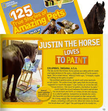 Artistic Features National Geographic Kids Features Justin The Artistic Horse