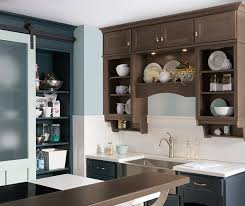 neutral kitchen with blue cabinets homecrest