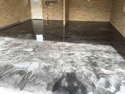 Concrete Floor Coatings Swirl It Right With A Metallic Epoxy Floor Coating All