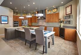 glass countertops kitchen island with table attached lighting