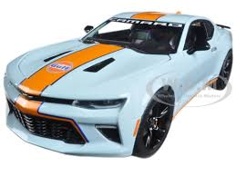 model camaro chevrolet camaro ss gulf racing 1 24 diecast model car
