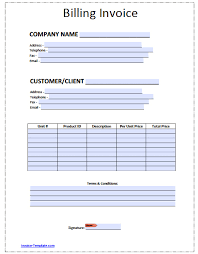 Free Invoice Templates Excel Free Blank Invoice Templates In Pdf Word Excel
