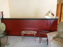 handy in ks painting a wall red and oak trim espresso