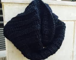 black infinity scarf etsy