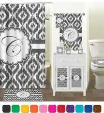 Grey And White Striped Shower Curtain Bathroom Pretty Ikat Shower Curtain For Bathroom Decoration Ideas