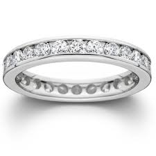 white gold eternity ring 1 1 2ct channel set lab created diamond eternity ring 14k white