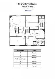 fire escape floor plan st swithins house floorplan