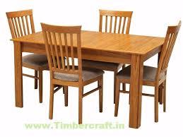 Teak Wood Dining Tables Teak Wood Dining Table Set Tdt 1001 Timbercraft