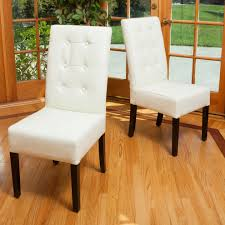 ivory leather dining room chairs home design ideas