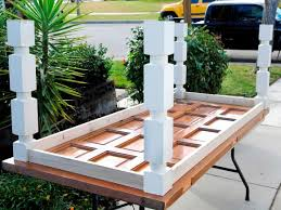 how to build an easy table how to build a dining table from an old door and posts hgtv