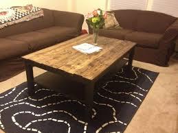 Diy Wood Coffee Table Ideas by Coffee Tables Splendid Brown Rectangle Rustic Wood And Metal Diy