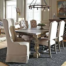 Leather Parson Dining Chairs Dining Chairs Set Of 6 Tufted High Back Linen Parsons Dining