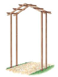 How To Build Trellis How To Build A Wooden Arch Kit How Tos Diy